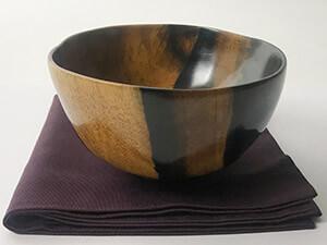 おかや木芸:黒柿の茶碗